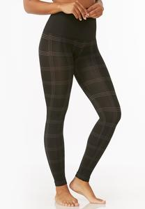 Plaid Seamless Leggings- Plus
