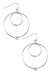 Rhinestone Double Hoop Earrings