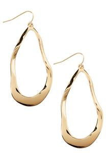 Hammered Irregular Hoop Earrings
