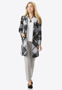 Plaid Jacket- Plus