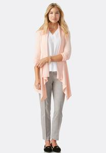 Pointelle Back Waterfall Cardigan