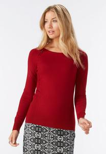 Zipper Shoulder Sweater