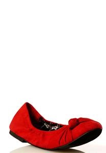 Knotted Band Scrunch Flats