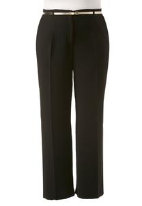 Belted Wide Leg Pants-Plus