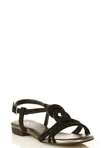Wide Width Jeweled Figure Eight Sandals