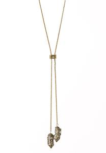Bead Bordered Lariat Necklace