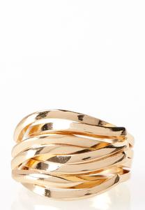Intertwined Bar Ring