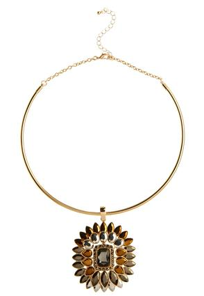 Jeweled Pendant Collar Choker