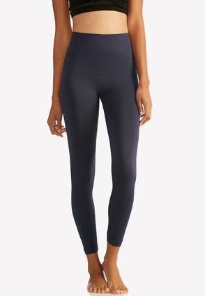 The Perfect Navy Seamless Leggings- Plus