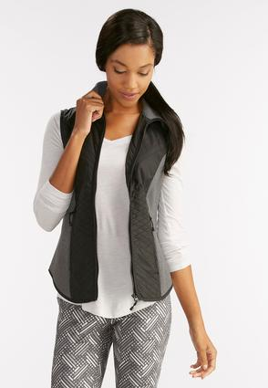 Quilted And Ribbed Athleisure Vest