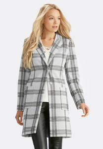 Plaid Ponte Jacket