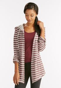 Striped Waterfall Hoodie