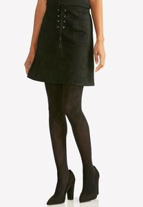 Windowpane Opaque Tights