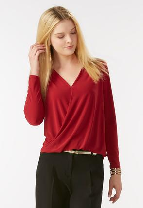 Twist Front High- Low Top- Plus