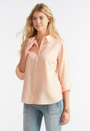 Boyfriend Chambray Shirt- Plus