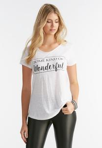 Wonderful Graphic Tee- Plus
