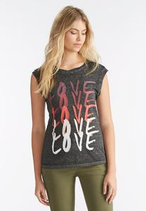 Burnout Love Graphic Tee-Plus