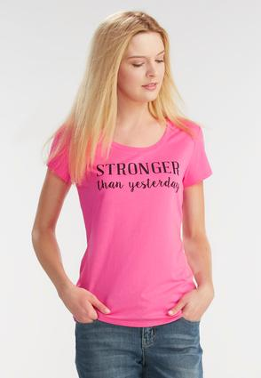 Stronger Than Yesterday Graphic Tee- Plus