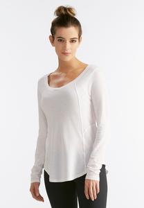 Space Dyed Seamed Knit Top