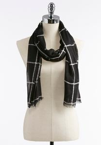 Windowpane Oblong Scarf