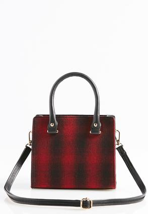 Structured Plaid Crossbody