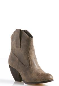 Stitched Western Ankle Boots