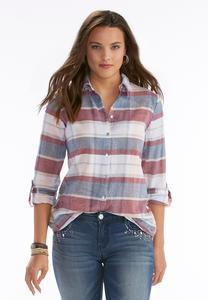 Herringbone Plaid Shirt