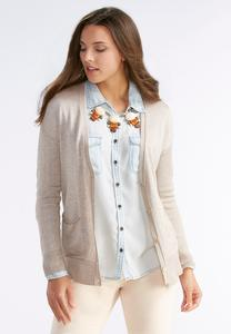 Boyfriend Metallic Thread Cardigan