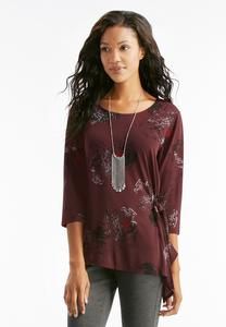 Abstract Tie Side Top- Plus
