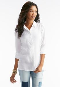 White Side Button Down Shirt