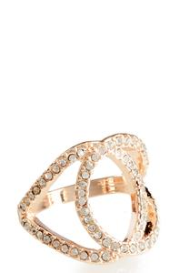 Pave Circle Cutout Ring
