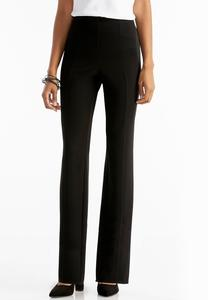 Ribbed Slim Leg Pull- On Pants