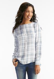 Plaid Pullover Top