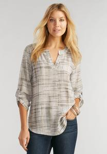 Abstract Plaid Popover Top-Plus