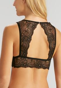 Cutout Back Lace Bralette