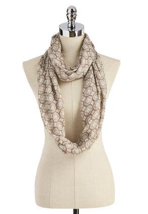Medallion Print Infinity Scarf