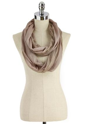 Lace Inset Infinity Scarf