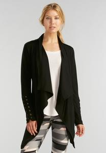 Lace Up Sleeve Athleisure Cardigan