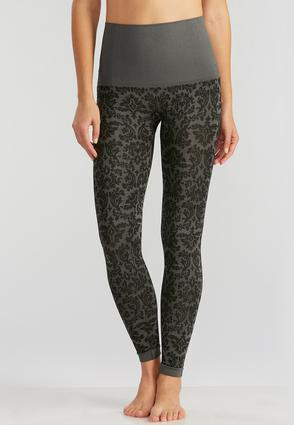 Damask Print Leggings