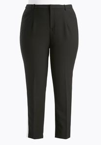 Tuxedo Stripe Pencil Pants-Plus