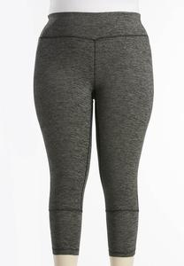 Space Dyed Performance Crop Leggings-Plus