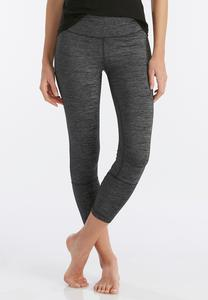 Space Dyed Performance Crop Leggings
