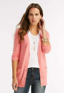 Boyfriend Cardigan-Plus