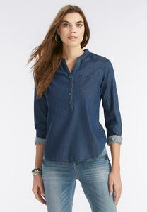 Railroad Stripe Denim Shirt