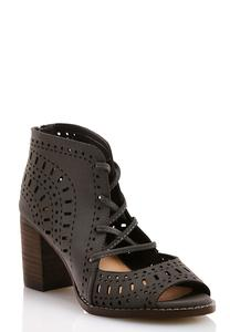 Perforated Lace Up Shooties