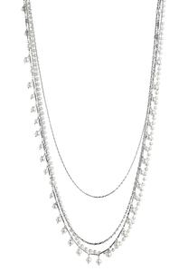 Chain Pearl Layered Necklace