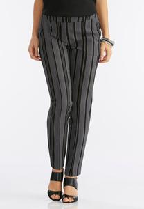 Vertical Striped Pencil Pants