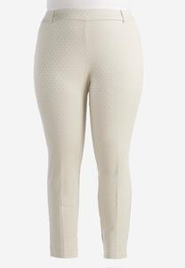 Geo Pull-On Slim Pants-Plus