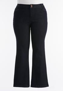 Essential Dark Wash Trouser Jeans-Plus