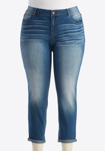 Contemporary Fit Skinny Ankle Jeans-Plus